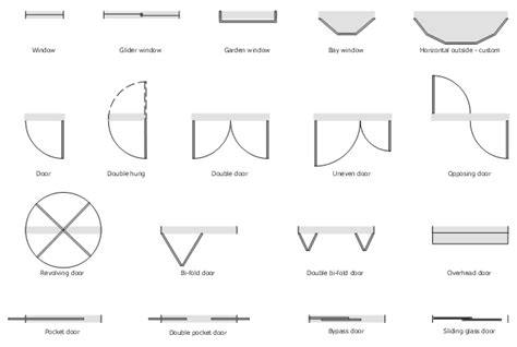 symbol for window in floor plan sliding glass door architectural drawing symbols