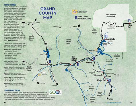 grand in colorado map grand county colorado map resort management