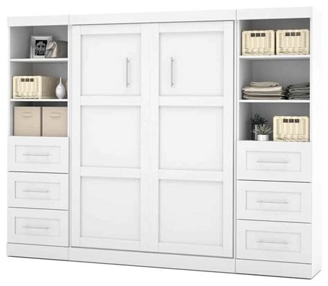 wall unit bedroom set full wall bed unit with drawers in white contemporary