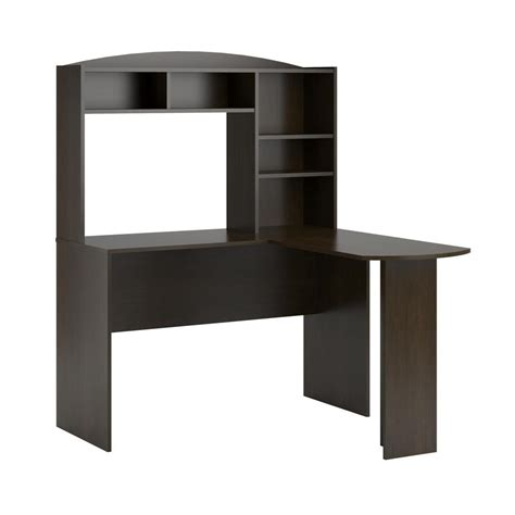 Ameriwood Desk With Hutch Ameriwood Gullberry Espresso Desk With Hutch Hd60874 The Home Depot
