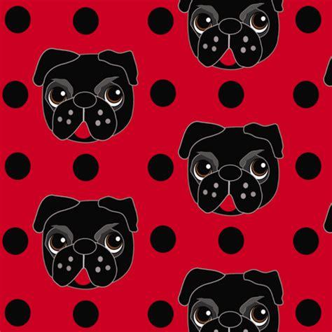 pug print material pug fabric missyq spoonflower