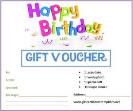 Gift certificate template and birthday certificate gift voucher
