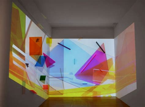 9 Drawings For Projection by Light Projection Turns Plain Room Into Geometric Maze