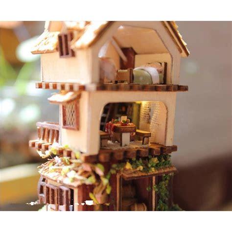 puppenhaus beleuchtung set diy handgefertigte miniatur projekt holz puppenhaus set