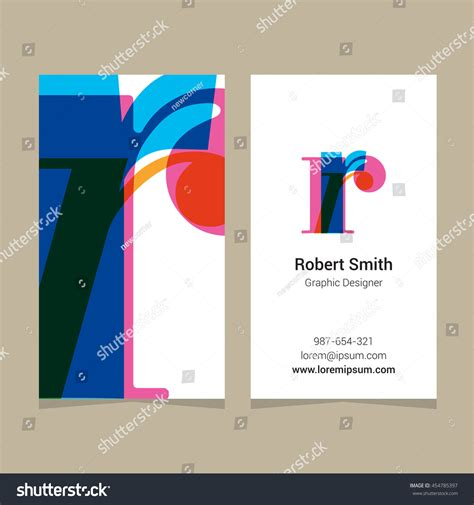 z graphic bussiness cards template logo alphabet letter r business card stock vector