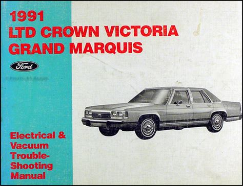 car repair manuals download 1991 mercury grand marquis electronic throttle control 1991 ford crown victoria and mercury grand marquis wiring diagram original