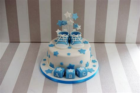Baby Shower Cakes For Boys by Boy S Baby Shower Cake With Cupcakes Bakealous