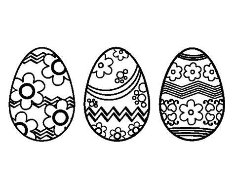 imagenes para pintar huevos de pascua dibujo de tres huevos de pascua para colorear dibujos net