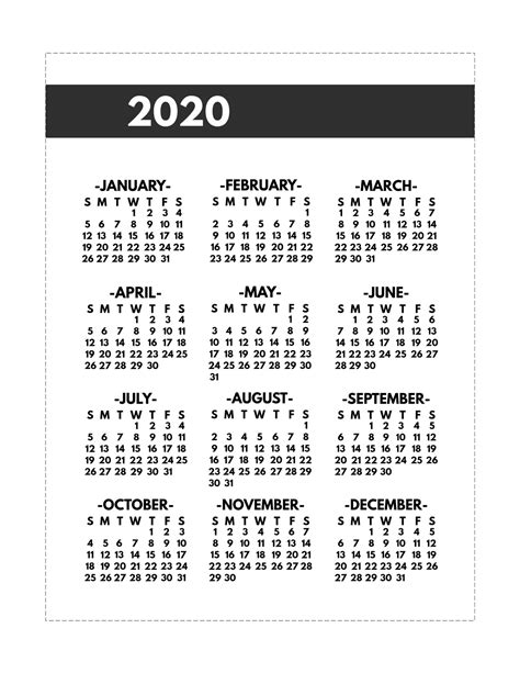 year   glance  calendar inspiration design