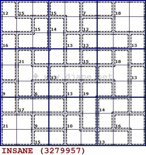 sudoku insane printable insane killer sudoku puzzle puzzles pinterest