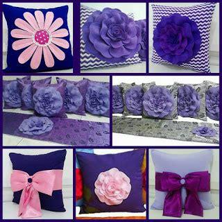 Satu Set Sarung Kursi Bantal Tamu Plus Alas Meja bantal kursi warna ungu bantal kursi cantik