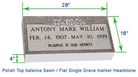 Mf01 Flat Single Grave Marker Headstone 28 Quot X16 Quot X4 Quot P1swn Grave Marker Template