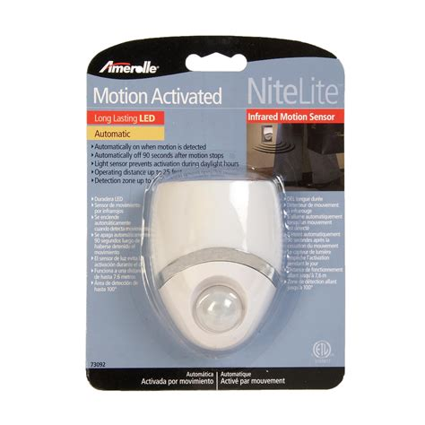 amazon motion sensor light amertac westek 73092cc led night light motion sensor