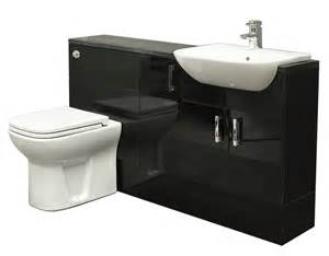 Chrome Bathroom Furniture Black Gloss Fitted Bathroom Furniture 1300mm Basin Sink Toilet Chrome Tap Ebay