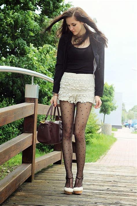 polka dot stockings white skirt summer clothes