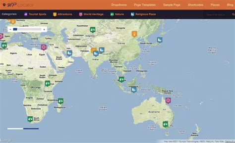 themes wordpress google maps wplocator wordpress theme wordpress online travel guide