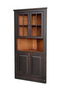 Paint Color Ideas For Kitchen amish handcrafted 40 quot corner cupboard with glass top