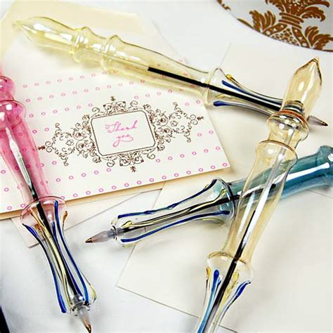Wedding Favors Pens by 4 Blown Glass Pens For Unique Wedding Favors Sang Maestro