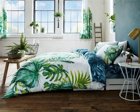 botanical bedding tropical leaf botanical floral modern duvet cover bedding quilt set all sizes linenstar