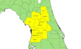 pin florida county map on