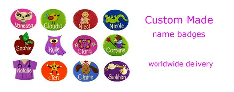 Handmade Name Badges - just for you name badges personalised made to order
