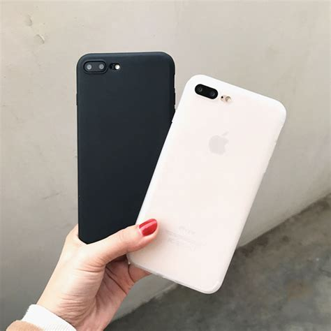 Softcase Black Matte Iphone 7 7g 7s Softcasefull Black cool simple fashion solid color milk white matt