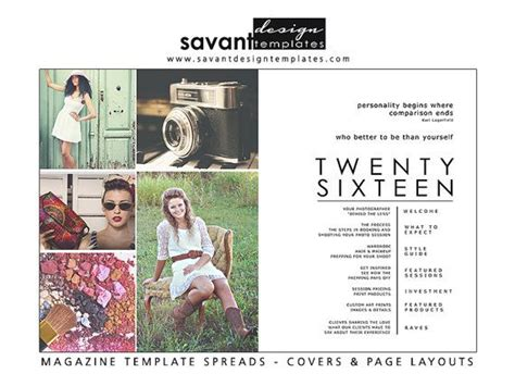 This Colorful Beautiful Senior Magazine Index Table Of Contents Is A Double Page Spread Senior Magazine Templates For Photographers