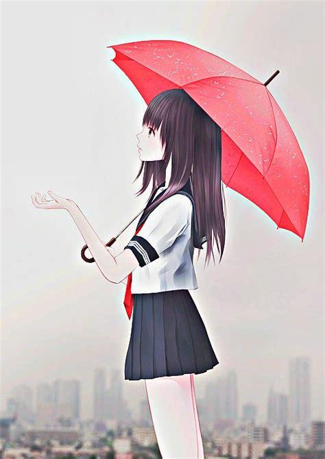 Anime Umbrella by Anime With Umbrella Anime Anime