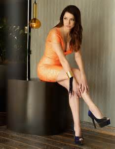 julie gonzalo rocks mac duggal style 40333l neon orange