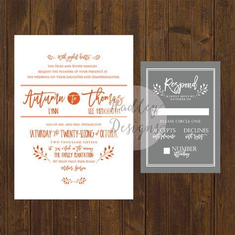 Wedding Announcement Rustic by Hadley Designs Rustic