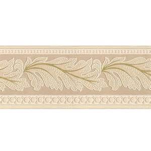 Style selections 5 in beige prepasted wallpaper border at lowes com