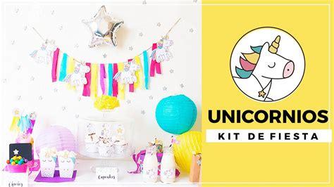 imagenes de unicornios con pensamientos fiesta de cumplea 241 os unicornios kit de fiesta para