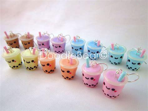 Pdf Kawaii Polymer Clay Creations by Kawaii Tea Boba Polymer Clay Earrings Kawaii Shimai