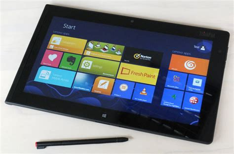 Tablet Lenovo Tab 2 review lenovo thinkpad tablet 2 the register
