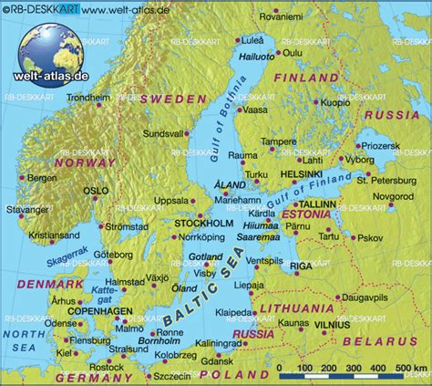 baltic sea map map baltic sea