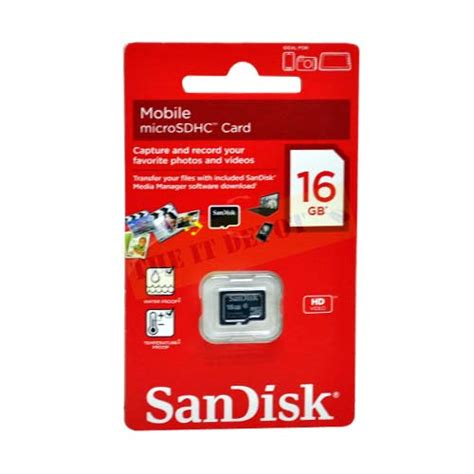 Micro Sd Sandisk 16gb buy sandisk 16gb micro sd card sdsdqm 016g b35 lowest price in india at www theitdepot