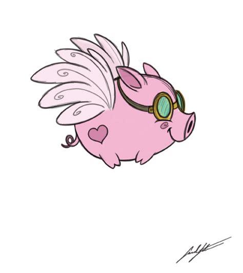Sarah's Sketchbook: Fly Little Pig, FLY! Flying Pig Drawing