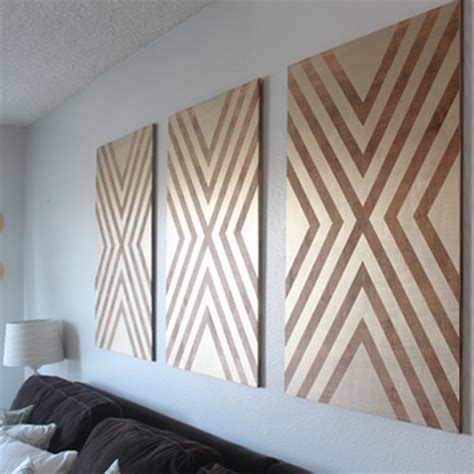 home dzine home decor make your own chevron wall