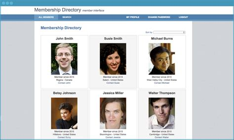 Membership Directory Free Caspio Application Caspio Directory App Template
