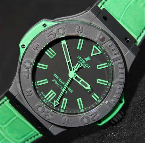 Hublot Vendome Bigbang Green Black hublot magic all black green watches on