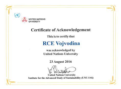 Acknowledgement Letter Undp Rce Vojvodina