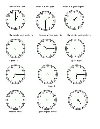 clock worksheets quarter past time quarter to and quarter past by soundstuff13