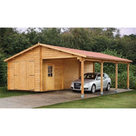 Garage With Carport Plans by Wood Sheds With Carports Tuin 13ft X 27ft 4m X 8 30m