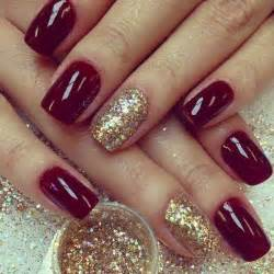 merry xmas custom gel glitz mix golden gel nails