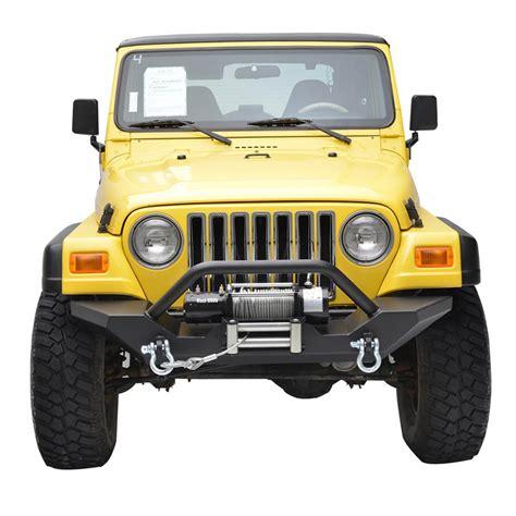 jeep front 87 06 jeep wrangler yj tj heavy duty rock crawler front bumper