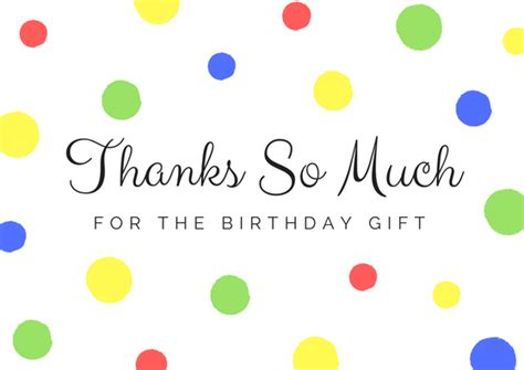 Thank You Card Birthday Gift - free birthday thank you card printables