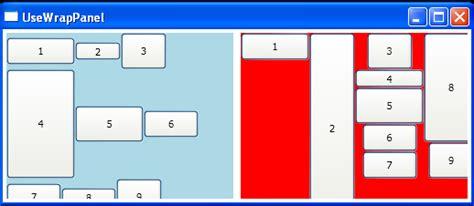 tutorial vb net wpf wrappanel with flowdirection wrappanel 171 windows
