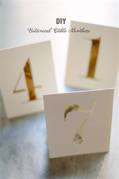 Diy Table Numbers by Diy Botanical Table Numbers 100 Layer Cake