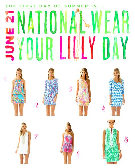 National Wear Day Fall In With Your by National Wear Your Lilly Day