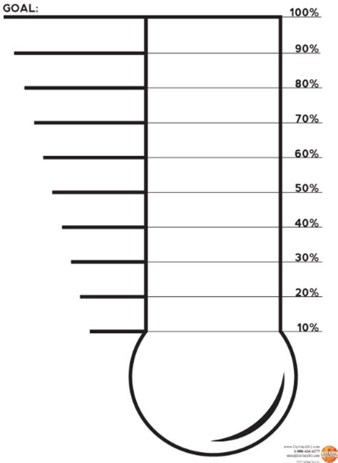 thermometer goal clipart best